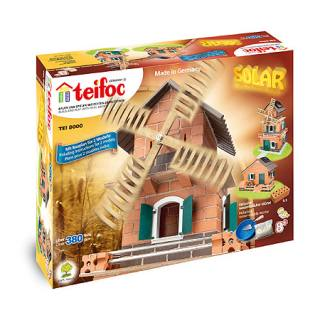 Stone building kit 8000 Teifoc Solar-Powered Windmill
