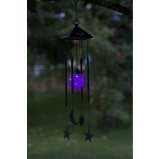 Solar-powered hanging light Wind Chime Sun/Moon/Stars