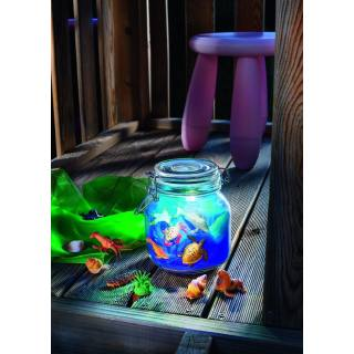 Solar-powered tabletop light Deco Glass Jar