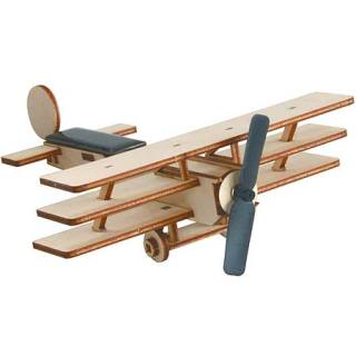 Solar-powered wooden kit Triplane