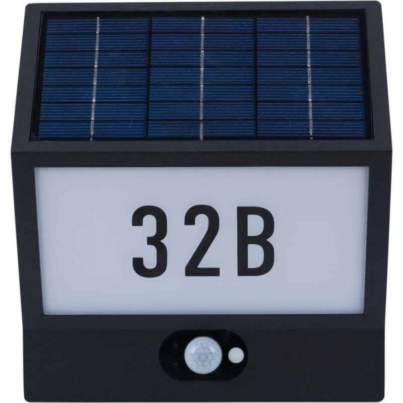 Solarlampe mit Hausnummer 'Andrea' von Heitronic
