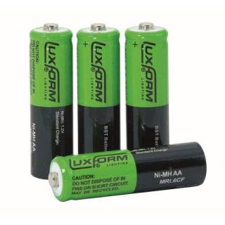 Set of 4 Luxform AA-batteries NiMH 1,2V/ 800 mAh