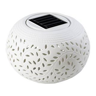 Lunartec Solar-Dekoleuchte Porzellan
