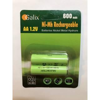 Galix AA-Akku NiMh 1,2 V/600 mAh 2er Set