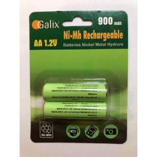 Galix AA-Akku NiMh 1,2 V/900 mAh 2er Set