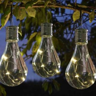 Solar-powered Lightbulb Lantern Eureka Set of 6
