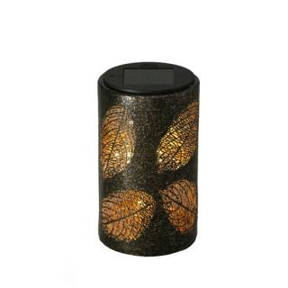 Luxform Solar Table Lamp with Leaf Decor