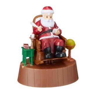 Solar-Wackelmodell Santa Claus auf Stuhl