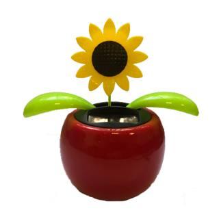 Fleur solaire qui se balance