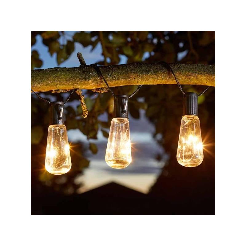 Solar-Balkon-Lichterkette 'Glühbirnen Eureka' von Smart Solar