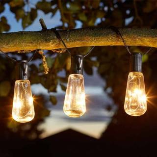 Eureka Vintage Lightbulb Solar String Lights