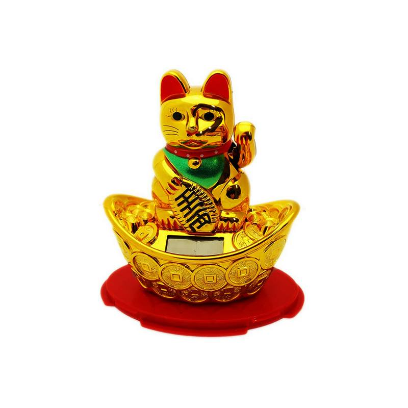 Solar-powered Waving Lucky Fortune Cat