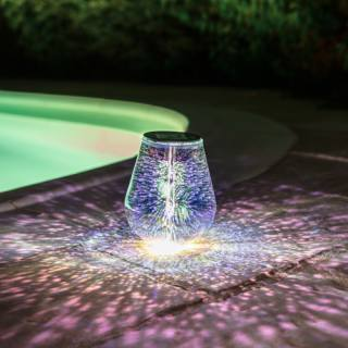 Galix Solar-powered Table Light with star effect