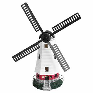 Solar Powered Light Up Garden Windmill