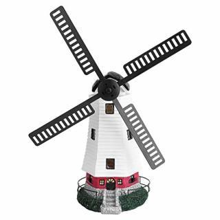 Solar-Windmühle mit Beleuchtung