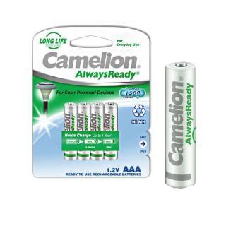 Camelion 17406403 Ni-MHh Akku HR03/AAA/Micro, 600 mAh, 4er-Pack chrom