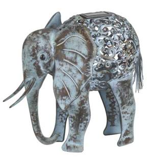 Solar-powered animal light Metal Elephant