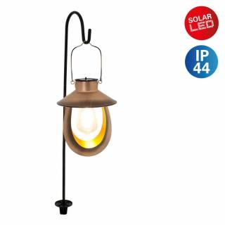 Solar Hanging Lantern Copper Style