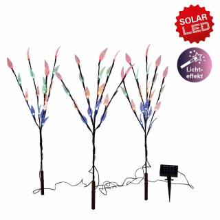 3 Piece Solar powered Branch Twig tree with LED Leaf Lights