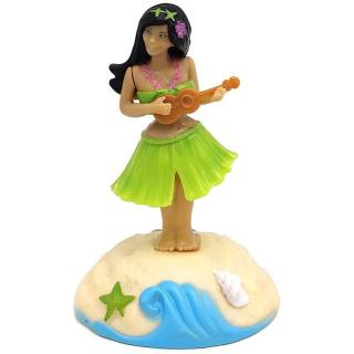 Figurine solaire Fille hawaïenne