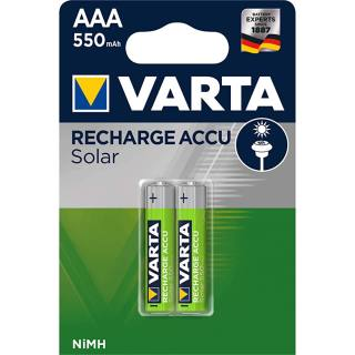 Set of 2 Varta Mignon-Batteries AAA NiMh, 1,2 V/550mAh