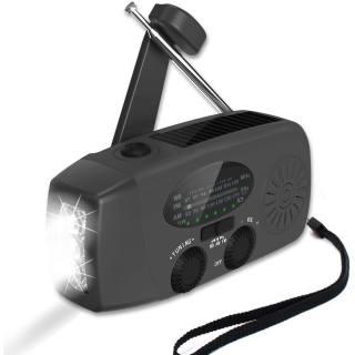 Hand Crank AM/FM-Radio with Flashlight