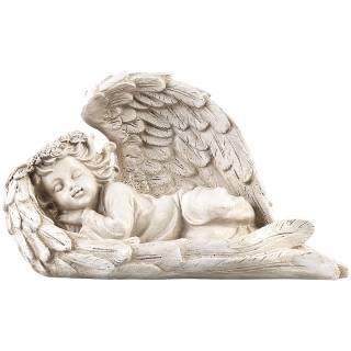 Lunartec Schlafende Solar-Schutzengel-Figur