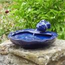 Fontaine en céramique bleue Poisson