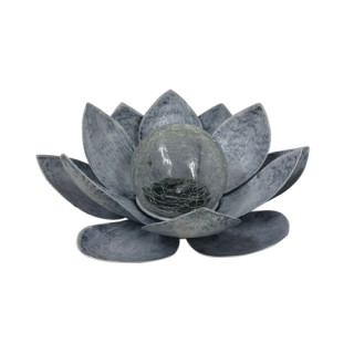 Solar Lotus Flower with Glass Ball