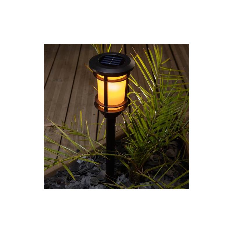 Solar-powered Garden Light with flame effect