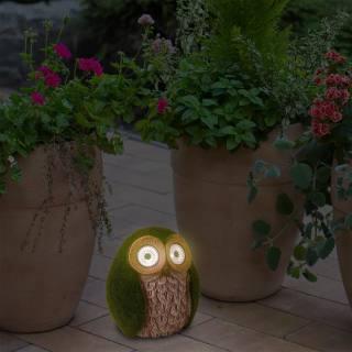Näve Solar Deco Lamp Owl