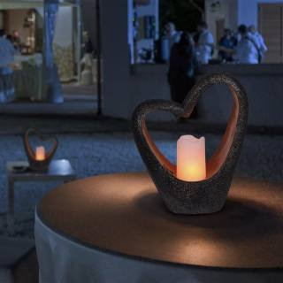 Solar light Heart with Candle