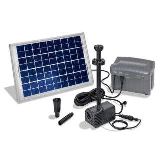 Solar-powered pond pump kit Napoli LED