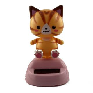Solar-powered model with movable parts Cat