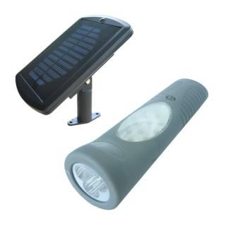 Lampe de poche solaire duo