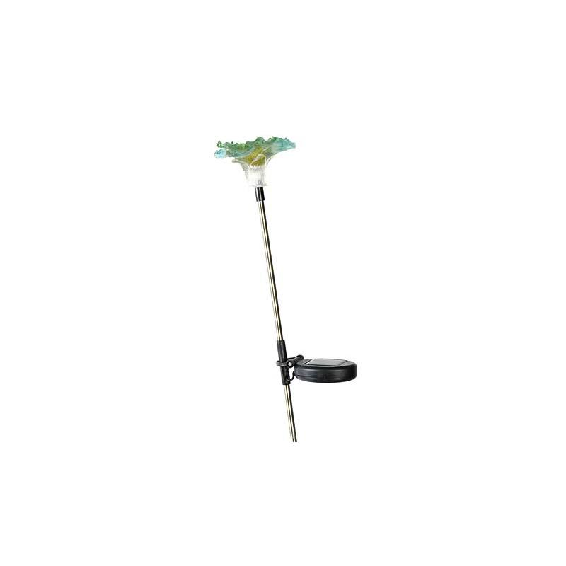 Solar-powered plug lights Lily set of 2