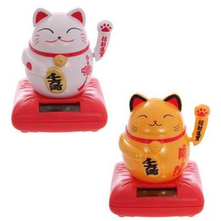 Solar-powered model with movable parts Waving Cat