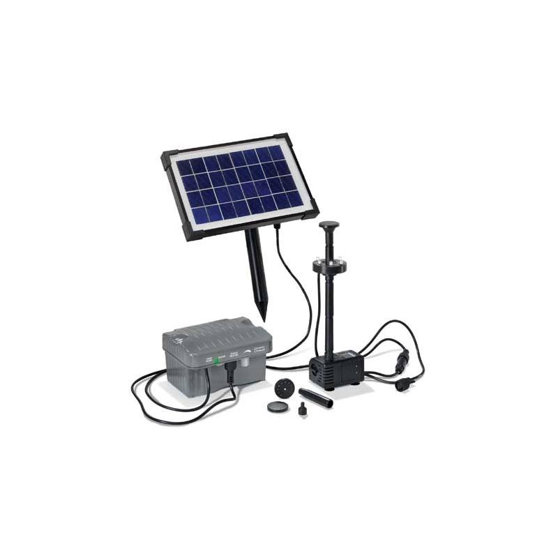 Solar-powered pond pump kit Palermo LED