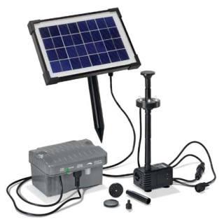 Solar-powered pond pump kit Palermo LED